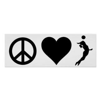 Peace Love Volleyball (Female) Poster