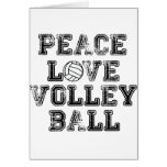 Peace, Love, Volleyball Greeting Cards