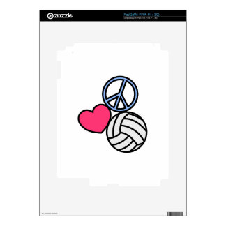 Peace Love Volleyball iPad 2 Decal
