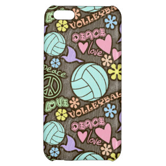 Peace Love Volleyball iPhone 5C Cases