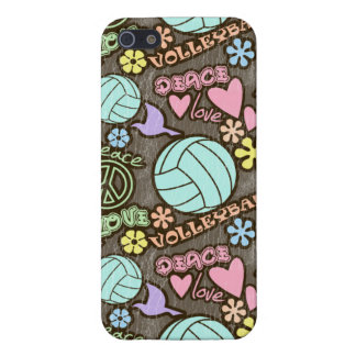 Peace, Love, Volleyball iPhone SE/5/5s Cover