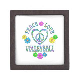 Peace Love Volleyball Jewelry Box