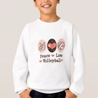 Peace Love Volleyball Kid Sweatshirt Youth