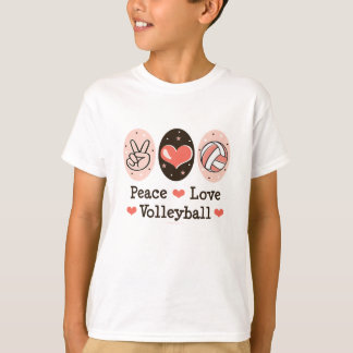 Peace Love Volleyball Kid T shirt