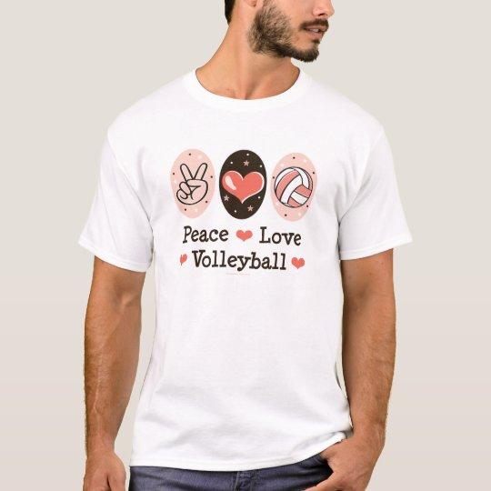 Peace Love Volleyball Kids T shirt