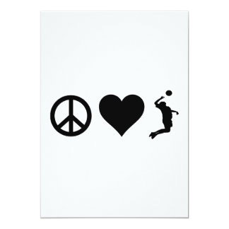 Peace Love Volleyball (Male) Card