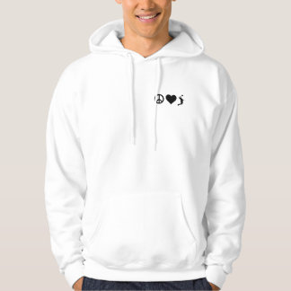Peace Love Volleyball (Male) Hoodie
