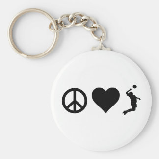 Peace Love Volleyball (Male) Keychain