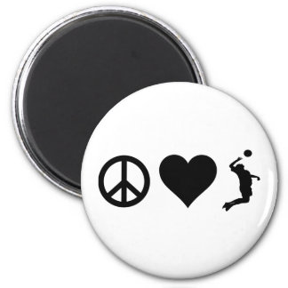 Peace Love Volleyball (Male) Magnet