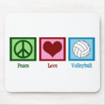 Peace Love Volleyball Mouse Pad