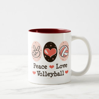 Peace Love Volleyball Mug