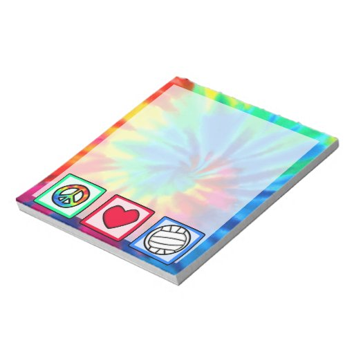 Peace, Love, Volleyball Note Pad