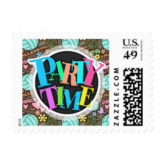 Peace, Love, Volleyball Postage Stamp