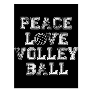 Peace, Love, Volleyball Postcard
