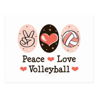 Peace Love Volleyball Postcard