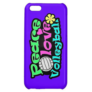 Peace, Love, Volleyball; Retro iPhone 5C Covers