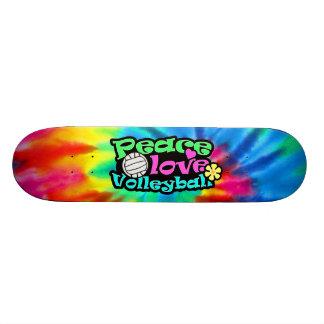 Peace, Love, Volleyball; Retro Custom Skate Board