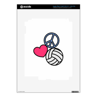 Peace Love Volleyball iPad 3 Decals