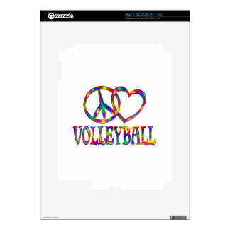 Peace Love Volleyball Skin For The iPad 2
