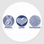Peace Love Volleyball Sticker