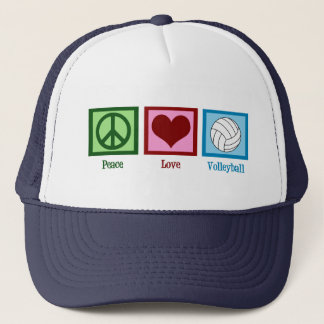 Peace Love Volleyball Trucker Hat