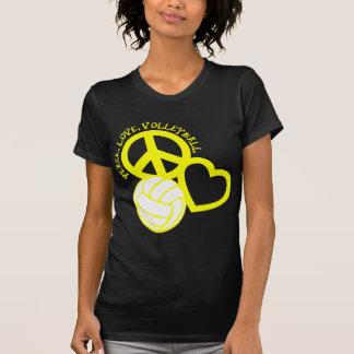 Peace Love Volleyball T-Shirts & Shirt Designs | Zazzle