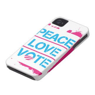 Peace Love Vote Obama 2012 iPhone 4 Case