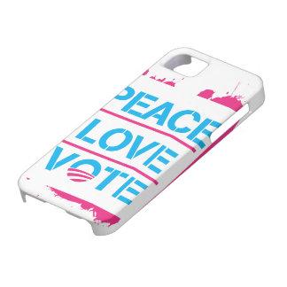 Peace Love Vote Obama 2012 iPhone 5 Case
