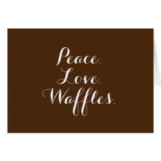 Peace. Love. Waffles. Blank Note Cards w/env