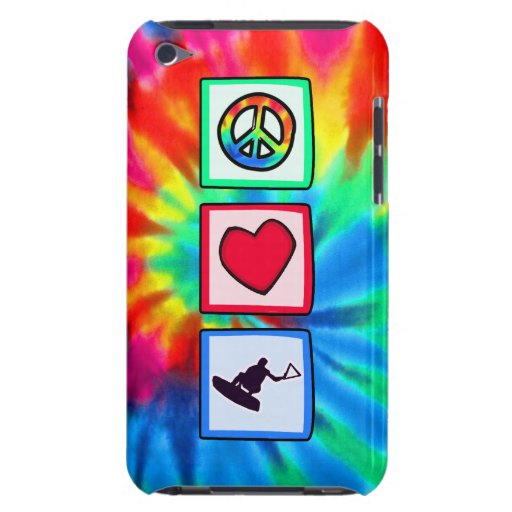 Peace, Love, Wakeboarding iPod Touch Case-Mate Case