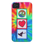 Peace, Love, Wakeboarding iPhone 4 Cover