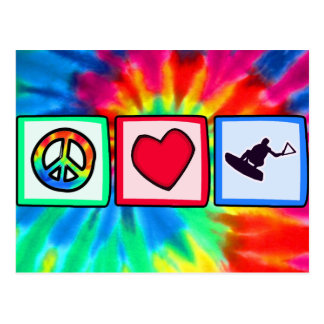 Peace, Love, Wakeboarding Postcard