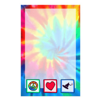 Peace, Love, Wakeboarding Stationery Paper