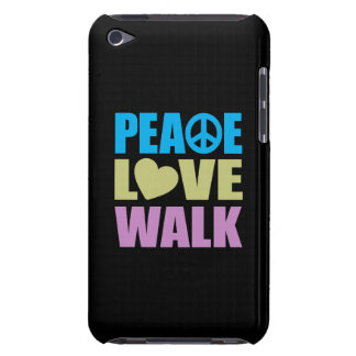 Peace Love Walk Barely There iPod Case