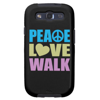 Peace Love Walk Samsung Galaxy S3 Cover