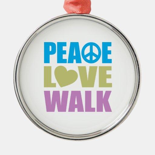 Peace Love Walk Christmas Tree Ornament