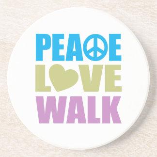Peace Love Walk Drink Coaster