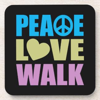 Peace Love Walk Beverage Coasters