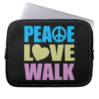 Peace Love Walk Computer Sleeve
