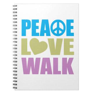 Peace Love Walk Notebooks