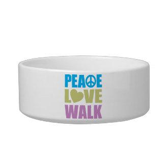 Peace Love Walk Cat Bowl