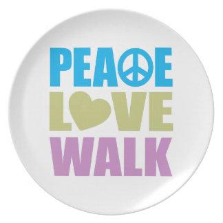 Peace Love Walk Dinner Plates