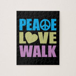 Peace Love Walk Jigsaw Puzzle