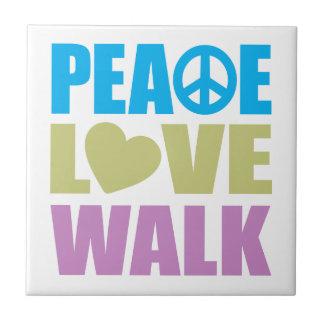 Peace Love Walk Tiles