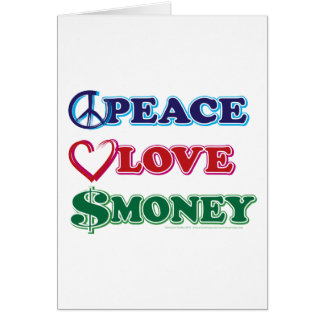 Peace-Love-Wall-Money Greeting Card