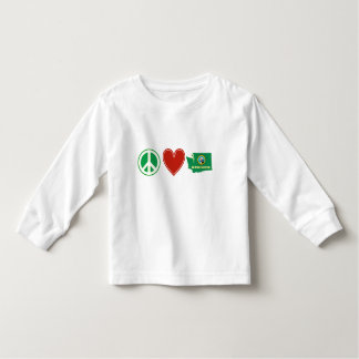 Peace Love Washington Toddler T-shirt