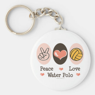 Peace Love Water Polo Keychain