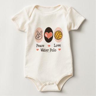 Peace Love Water Polo Organic Baby Bodysuit