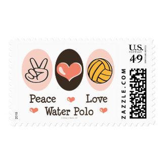 Peace Love Water Polo Stamps