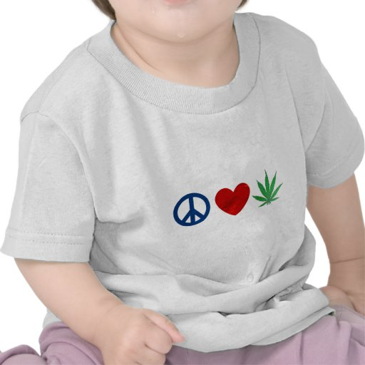 Peace, love, weed tshirts
